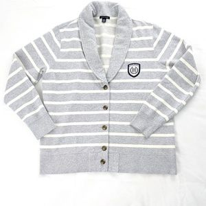 Tommy Hilfiger Stripe Logo Patch Sweater Jacket
